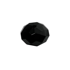 Black - 18mm Faceted - Acrylic-jewellery-bead, 1 stk