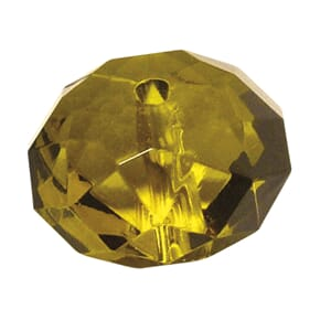 Fumy Topaz - 18mm Faceted - Acrylic-jewellery-bead, 1 stk