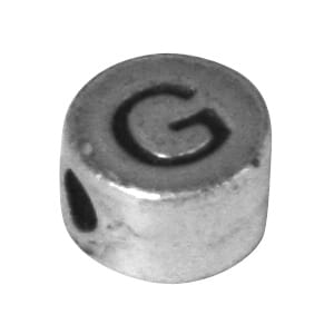 Metall perle G - ø 7 mm, hull 2 mm