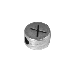 Metall perle Q el. X - ø 7 mm, hull 2 mm