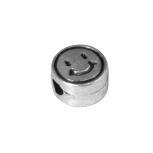 Metall perle Smiley - ø 7 mm, hull 2 mm