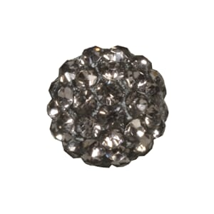 Shamballa Perle - 10mm ø, anthracite