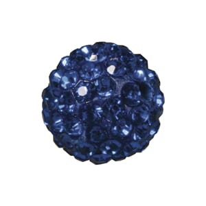Shamballa Perle - 12mm ø, royal blue
