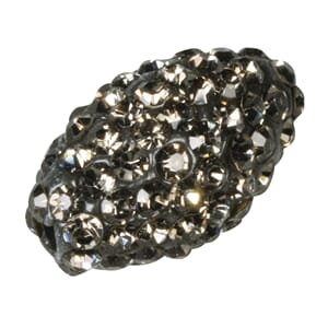 Shamballa Perle oval - anthracite, 1.6x1.1cm