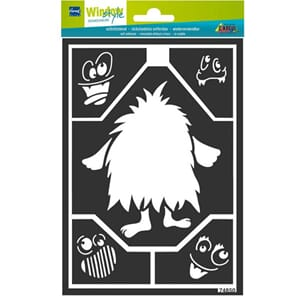 HOME DESIGN Window Style Design Stencil Small Monster