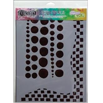 Dylusions: Stencils - Chequered Dots