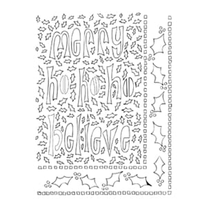 Dylusions: Ho Ho Holly - Large Stencils