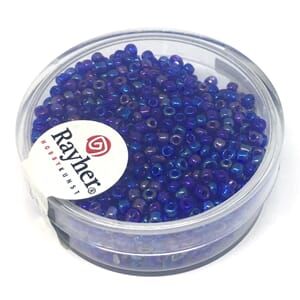 Rocailles 2mm ø - Dark blue transparent
