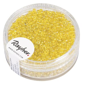 Rocailles 2mm ø - Yellow transparent