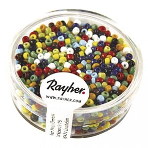 Rocailles, 2 mm, Opaque, mixed, box 17g
