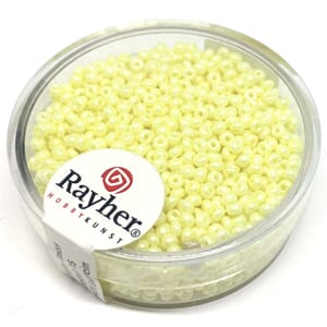 Rocailles 2mm ø - Yellow - Nacre