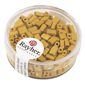 Perle Metallisk rektangel 5x3,5mm - Golden yellow - Beamless