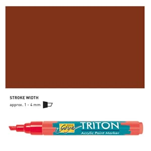 Triton Acrylic Paint Marker 1.4 - Dark Oxide Brown
