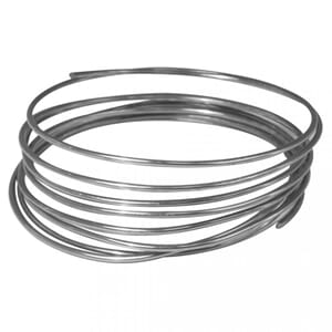 Aluminium wire - Platinum farget, fleksibel, 2 mm