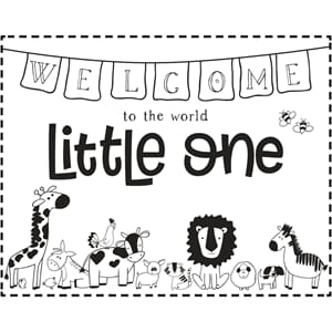 Stempel - Welcome little one, str 7x10 cm