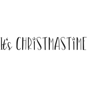 Stempel - Its Christmastime, montert