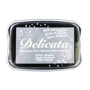 Imagine: Silver Glitz Delicata Pigment Ink Pad
