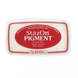 StazOn Pigment Ink - Passion Red, str 9.6x5.5x2.2cm
