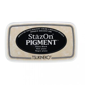 StazOn Pigment Ink - Piano Black, str 9.6x5.5x2.2cm