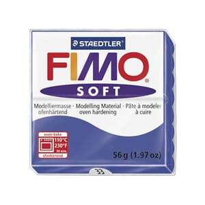 Fimo Soft: Brilliant Blue 33, 56g