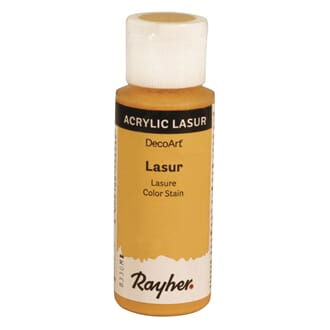 Lasur Transparent akrylmaling - Gul, 59 ml