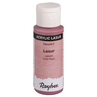 Lasur Transparent akrylmaling - Rosa, 59 ml