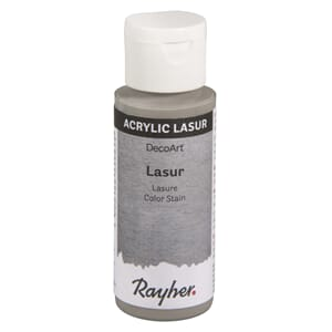 Lasur Transparent akrylmaling - Grå, 59 ml