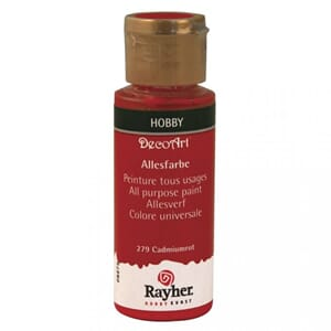 Hobbymaling - Cadmium red, 59 ml