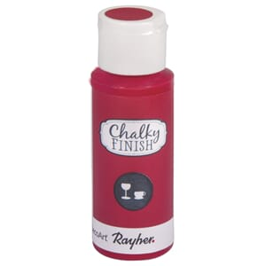 Chalky Finish for Glass - classic red