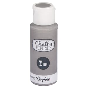 Chalky Finish for Glass - light grey