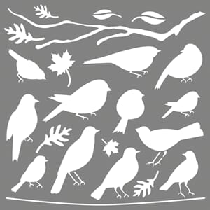 Stencil - Feathered Friends, 1/Pkg