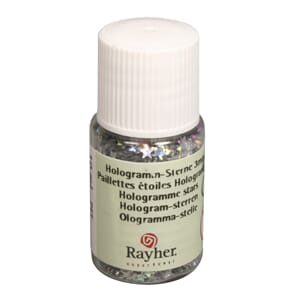Mini paljetter - Hologramme gold stars, bottle 10 ml