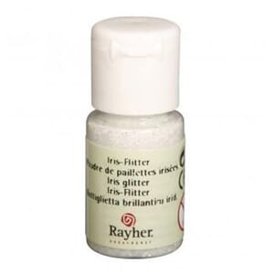 Glitter - Iridecent white, bottle 10 ml