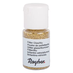 Glitter - Gold, bottle 10 ml