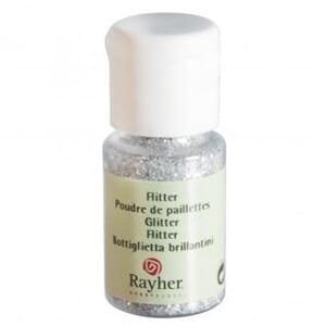 Glitter - Silver, bottle 10 ml