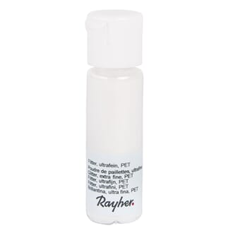 Glitter - White, extra fine, PET, bottle 20 ml