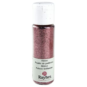 Glitter - Pale-pink, extra fine, PET, bottle 20 ml