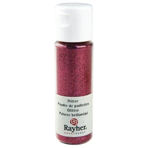 Glitter - Pink, extra fine, PET, bottle 20 ml