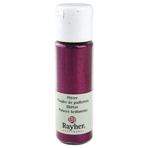 Glitter - Hot pink, extra fine, PET, bottle 20 ml