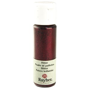 Glitter - Wine-red, extra fine, PET, bottle 20 ml