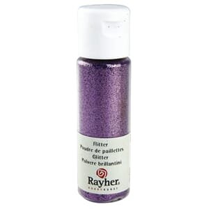 Glitter - Lavender, extra fine, PET, bottle 20 ml