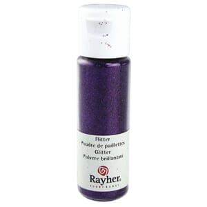 Glitter - Purple, extra fine, PET, bottle 20 ml