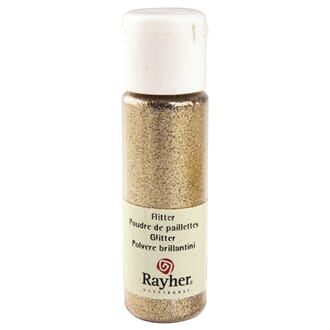 Glitter - Cashmere gold, extra fine, PET, bottle 20 ml