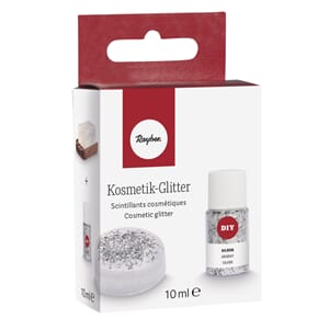 Kosmetisk glitter for såpe - Silver, 10 ml