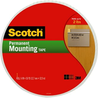 Scotch® Double-Sided Foam Mounting Tape, 32.9 m
