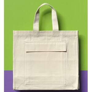 Shoppingbag, 100% bomull, organisk tekstil, 1 stk