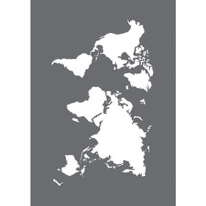 Stencil World Map small motive, A5, 1/Pkg