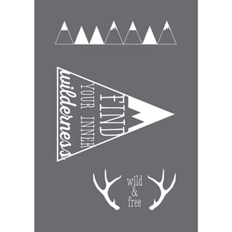 Stencil Wilderness motive, A5, 1/Pkg