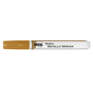 Acryl Metallic marker - Gold, tip str 2-4 mm, 1/Pkg