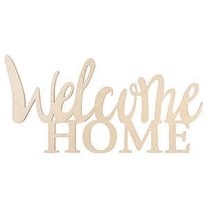 Tredekor - Welcome home, str 24.5x11.6x0.4 cm, 1/Pkg